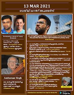 Daily Malayalam Current Affairs 13 Mar 2021