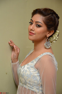 Anu Emmanuel in a Transparent White Choli Cream Ghagra Stunning Pics 075.JPG