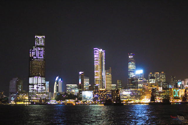 Tsim Sha Tsui at Night, Hong Kong