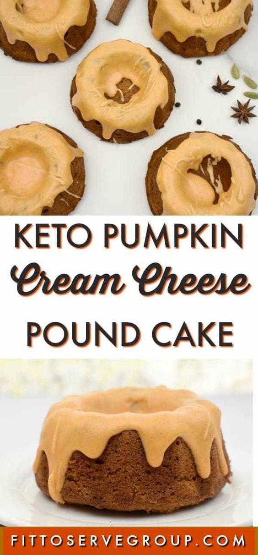 Keto Pumpkin Cream Cheese Pound Cake