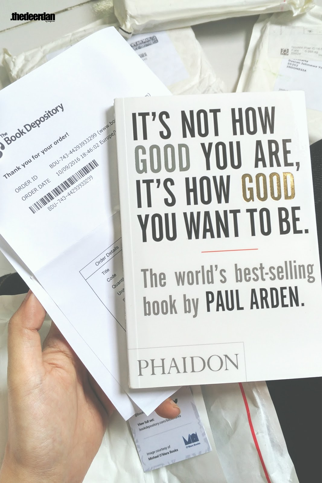 The Book Depository Review, Paul Arden Book