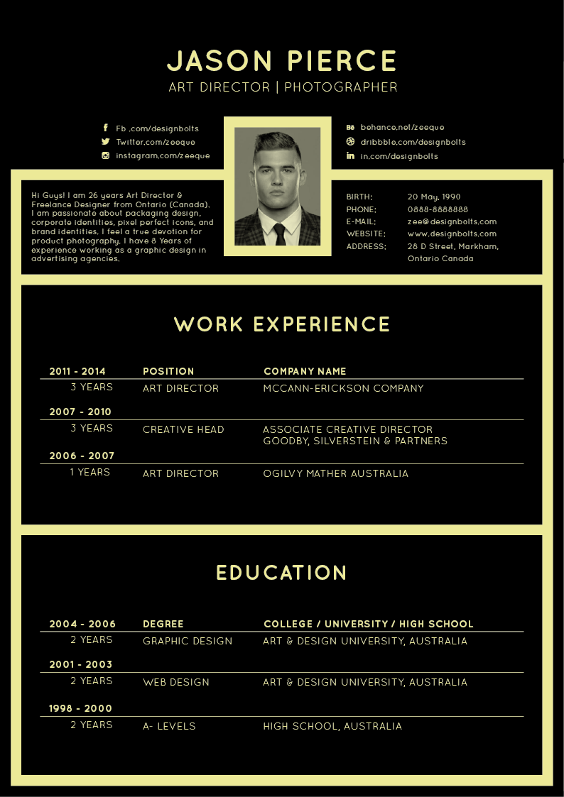 free resume template designs 2017 - Downloadable Free Resume Templates