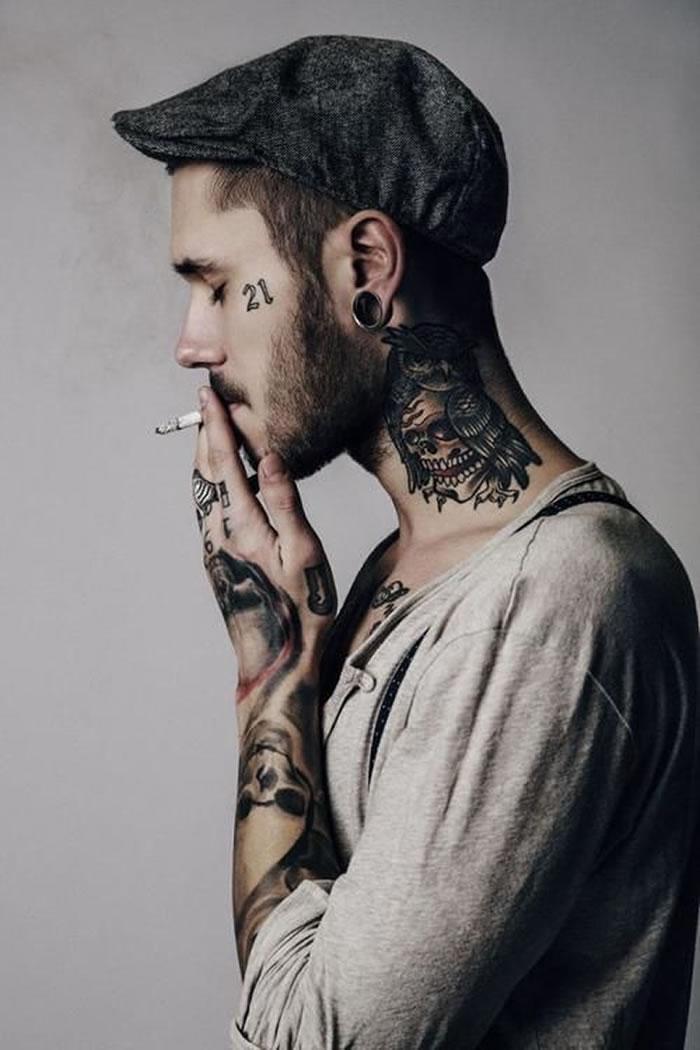 Tatuajes en el cuello que detonan la sensualidad de la anatomía ...