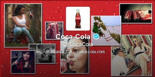 Best Cool Twitter Headers cococola drink
