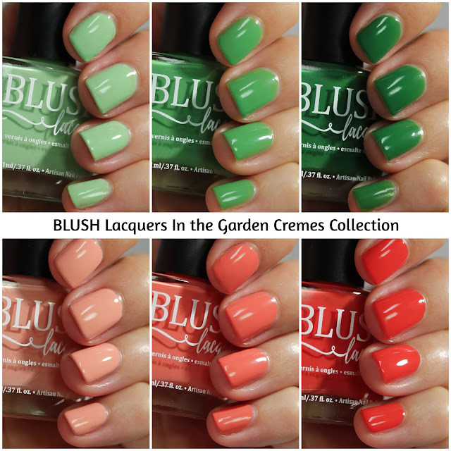 BLUSH Lacquers In The Garden Cremes Collection Swatch by Streets Ahead Style