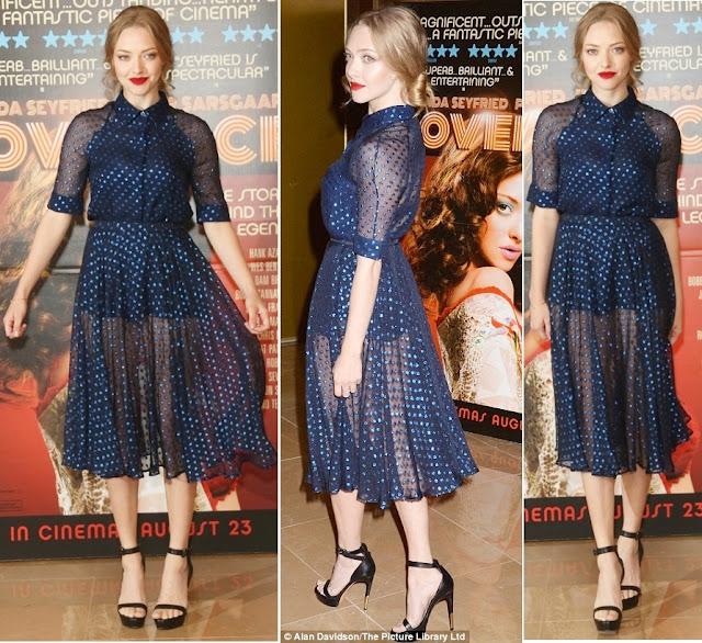 Amanda Seyfried in Gucci ( Resort 2014 ) –  'Lovelace' London Screening