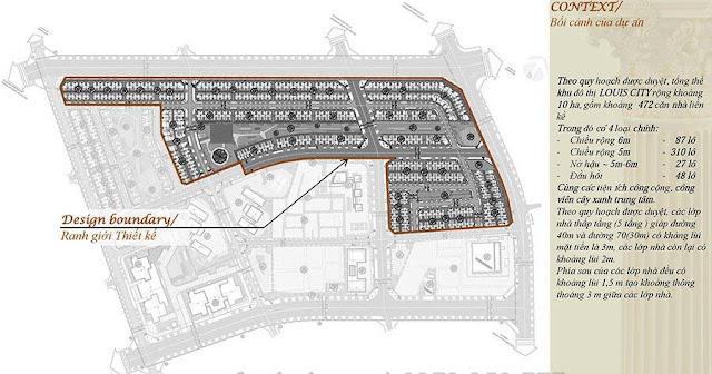 Vị trí quy hoạch và quy mô dự án Louis City