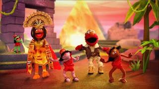 Elmo the Musical Guacamole the Musical, The Queen of Nacho Picchu, Nose McDonald, Rhombus of Recipes, Temple of Spoons, Sesame Street Episode 4404 Latino Festival season 44