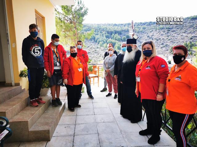 Ο Μητροπολίτης Αργολίδας επισκέφθηκε το συσσίτιο του Ι.Ν. Ευαγγελιστρίας στο Ναύπλιο