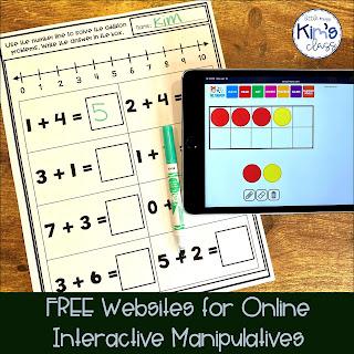 Websites for Online Manipulatives for Online Learning