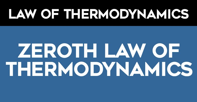 What is the Zeroth law of thermodynamics? Application, Examples