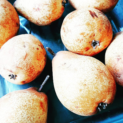 Torta crocante de peras
