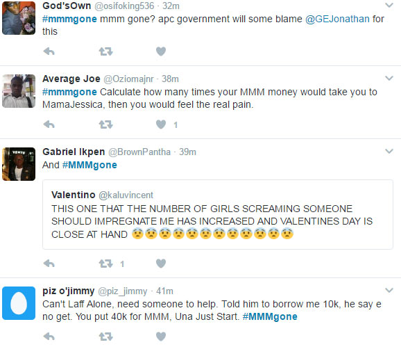 #MMMgone trends on Twitter as participants get mocked by Nigerians