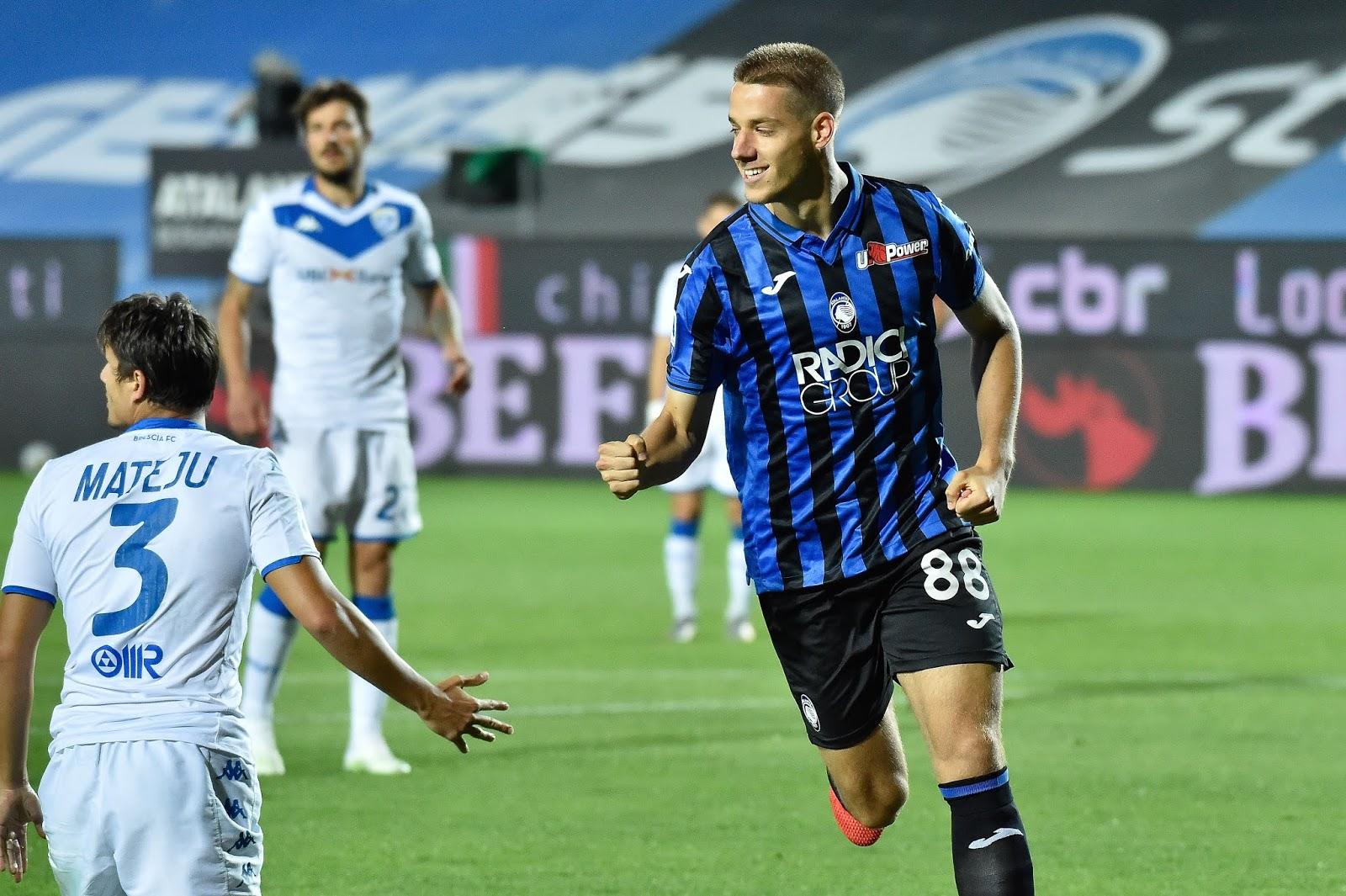 Atalanta llegó al segundo puesto de la liga italiana con la goleada ante Brescia