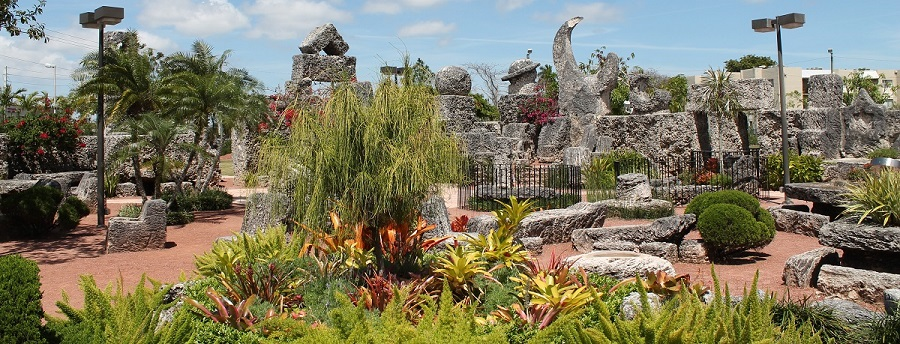 Interior del Coral Castle