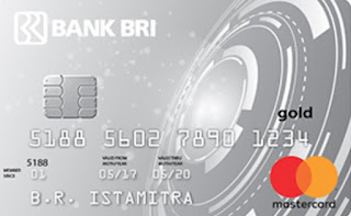 Design kartu kredit BRI Gold - BRI easy Card