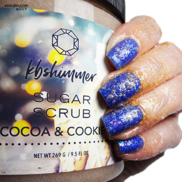 xoxoJen's swatch of KBShimmer Cocoa & Cookies Sugar Scrub