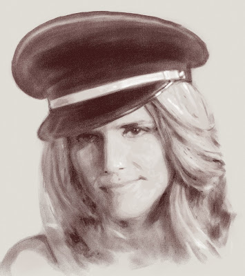 Алис Тальони в фуражке (фильм ca$h), портрет сделан онлайн