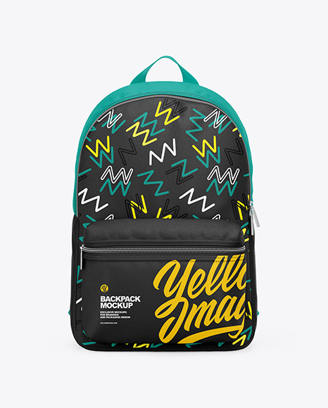 3 Design Collection Backpack Mockup - Front View