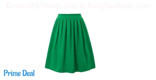 50% off Plus Size A-Line Pleated Vintage Skirts