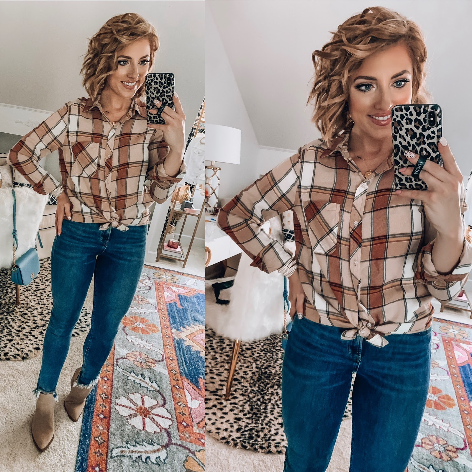 Target Fall Finds: Part One - Plaid Top - Something Delightful Blog