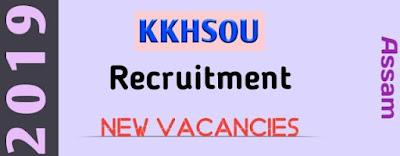 KKHSOU Recruitment 2019 Job In Assam । Govt Job Of Assam