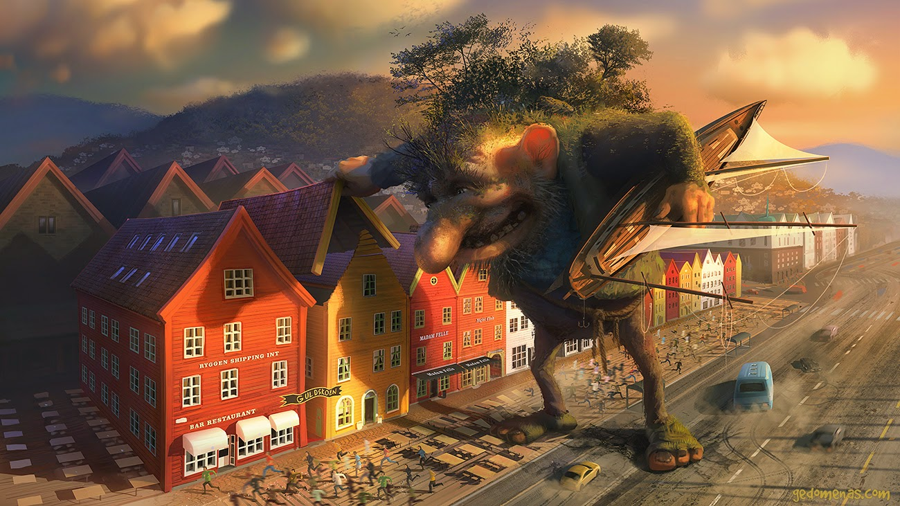 07-Bergen-Troll-Gediminas-Pranckevicius-Surreal-Glimses-into-other-Universes-www-designstack-co