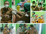 Belasan Jajaran Diskominfo Lubuklinggau Di Suntik Vaksin Dosis Pertama