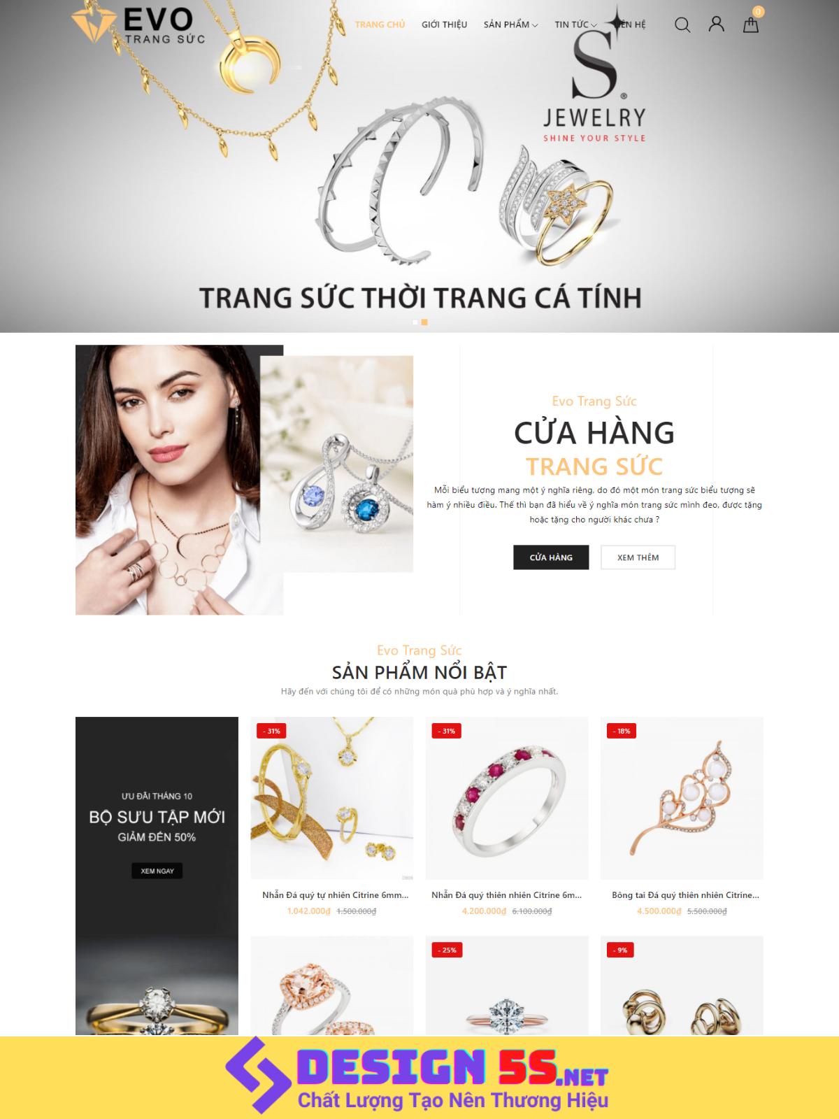 Theme blogspot bán hàng, nhẫn cưới, trang sức VSM86