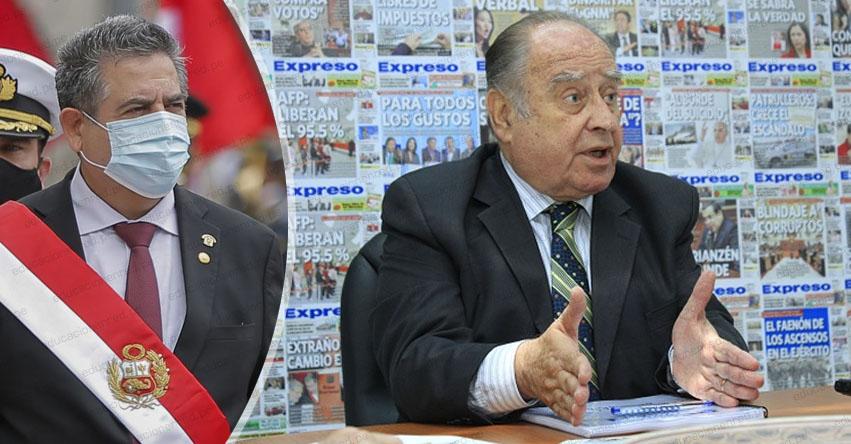MINISTROS 2020: Hoy Miércoles juramentará Ántero Flores Aráoz, como jefe del nuevo gabinete ministerial