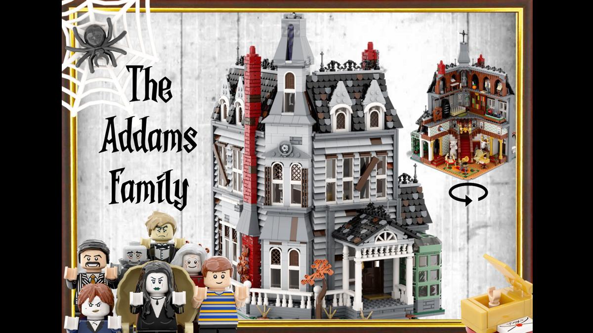 レゴアイデアで『アダムスファミリーの屋敷』が製品化レビュー進出!2020年第3回1万サポート獲得デザイン紹介