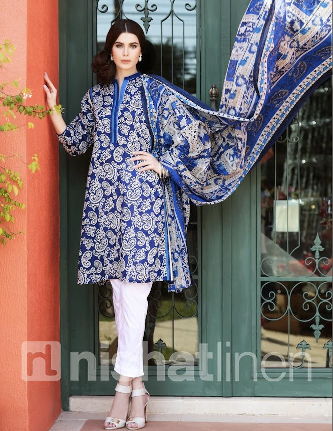 Nishat Linen Summer Spring Collection 2014-15 By Nisha
