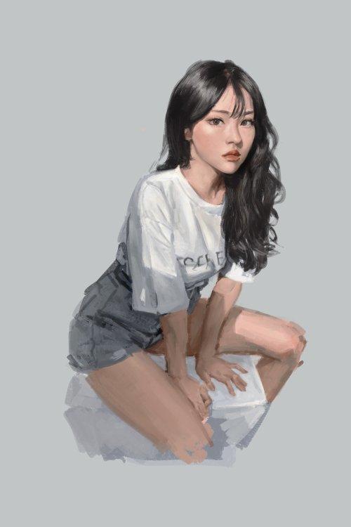 Brooks Kim artstation arte ilustrações mulheres fantasia