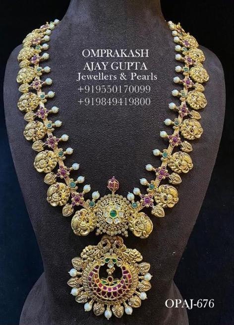 Peacock haram from omprakash jewellers