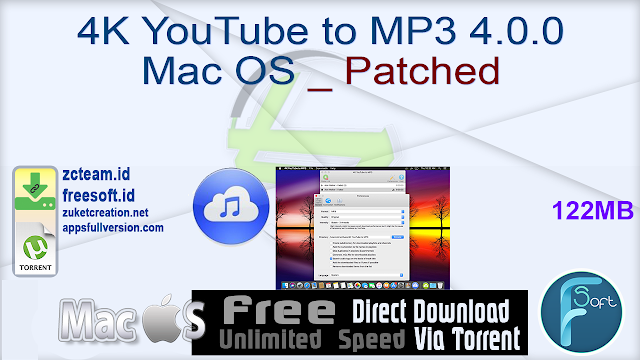 4K YouTube to MP3 4.0.0 Mac OS _ Patched