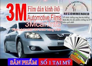 phim 3M, dán kính ô tô 3M,phim xe ô tô 3M chính hãng