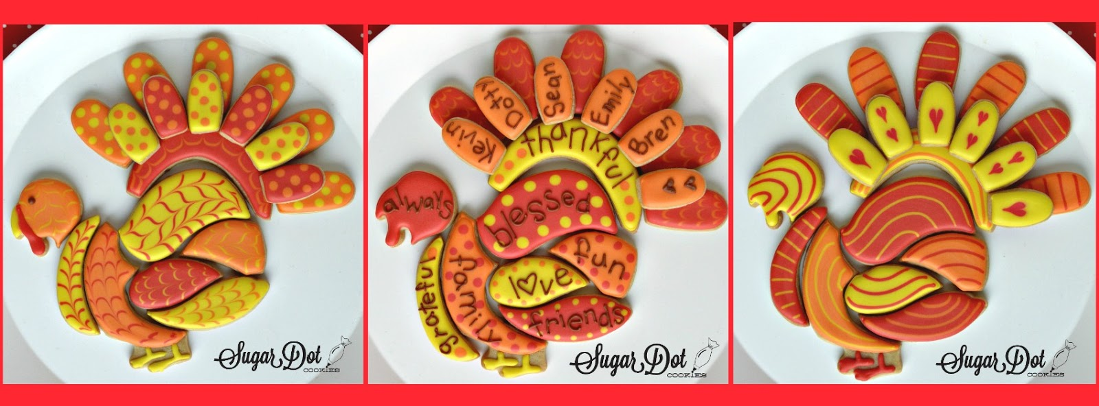 Sugar Dot Cookies Turkey Cookie Puzzle For Thanksgiving