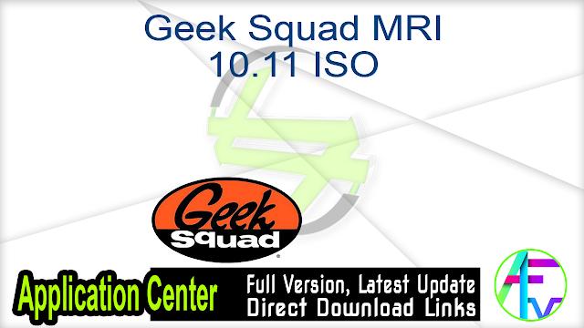 Geek Squad MRI 10.11 ISO