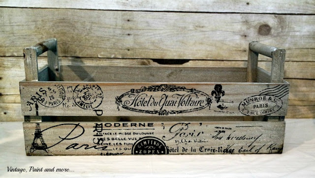 French graphics wooden box