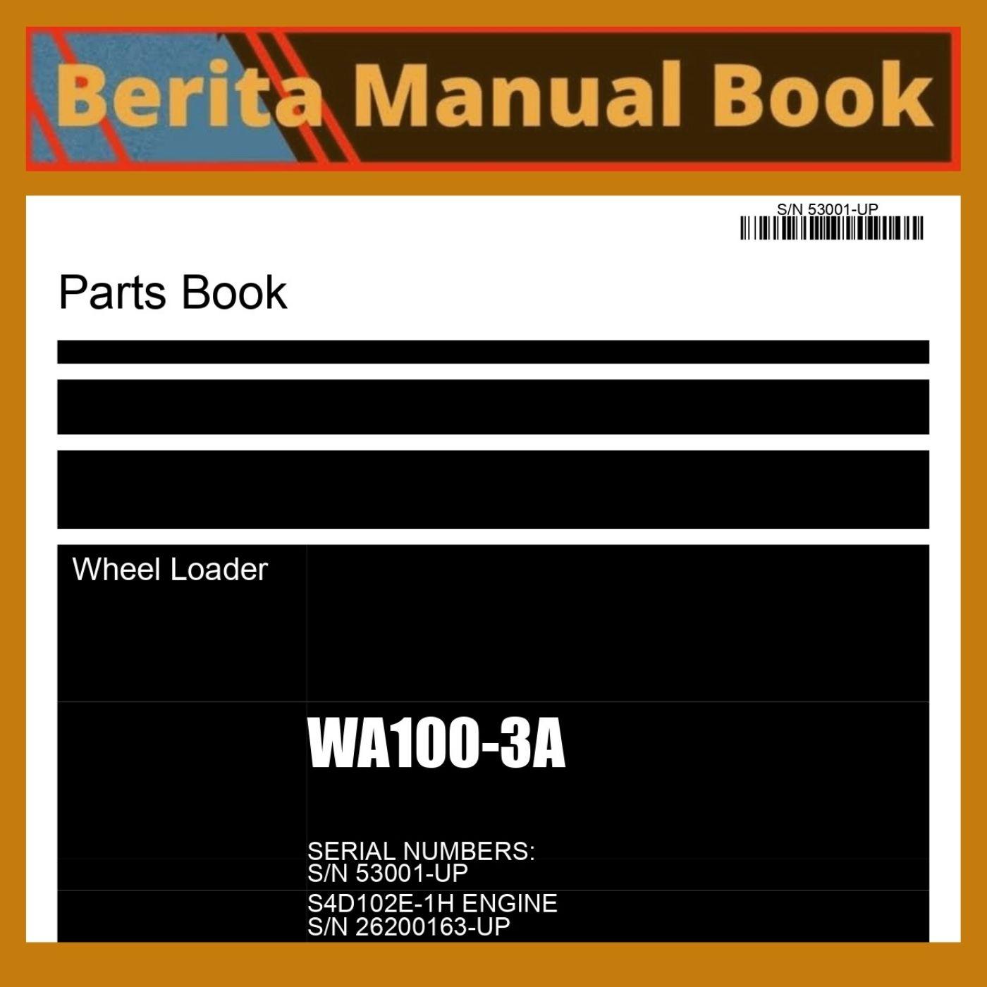Parts book catalog wheel loader WA100-3A