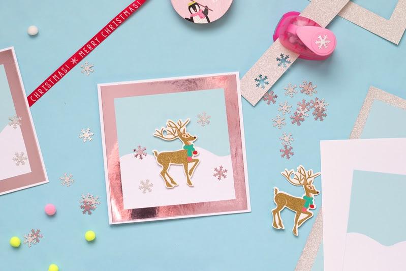 diy reindeer pom-pom shaker card tutorial