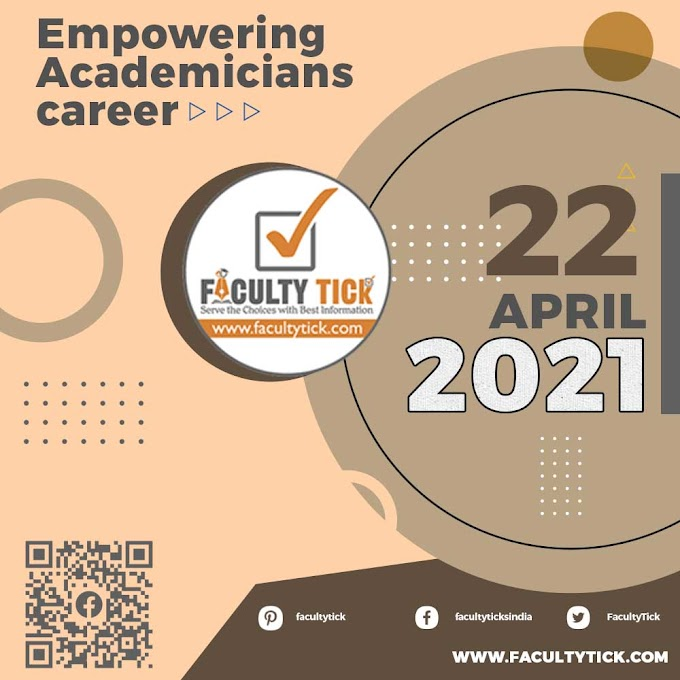 Teaching Faculty Job 22 April 2021 Announcement & Interview Notification By Faculty Tick