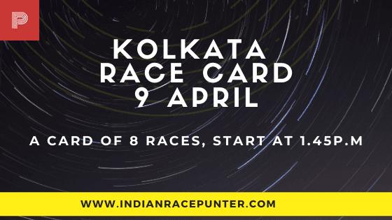 Kolkata Race Card 9 April