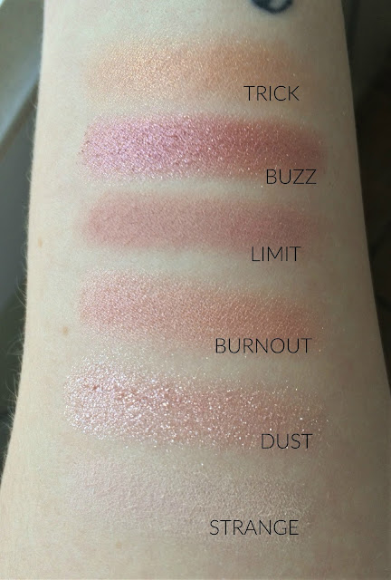naked 3 palette swatches