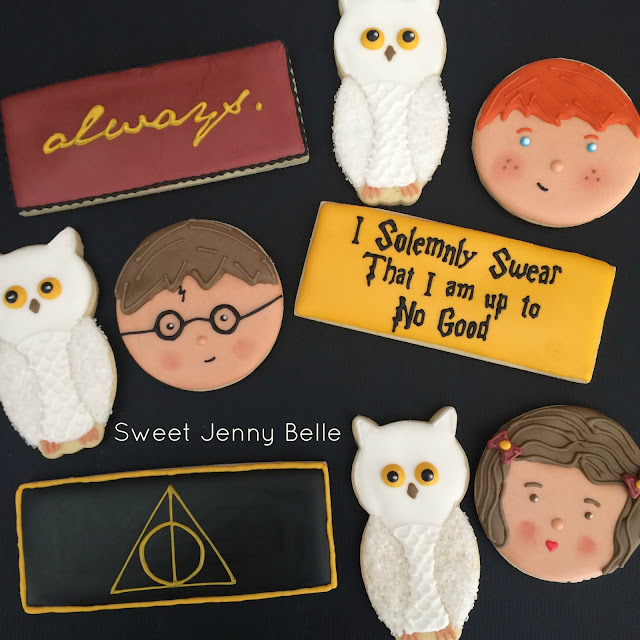 harry potter decorated cookies giveaway