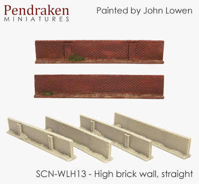 SCN-WLH13   High brick walls, straight (4 pieces)