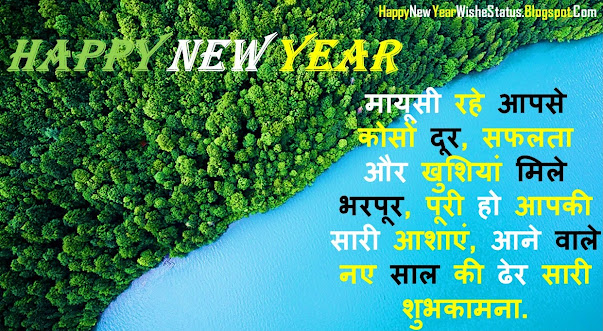 Happy New Year Best Wishes Status in Hindi