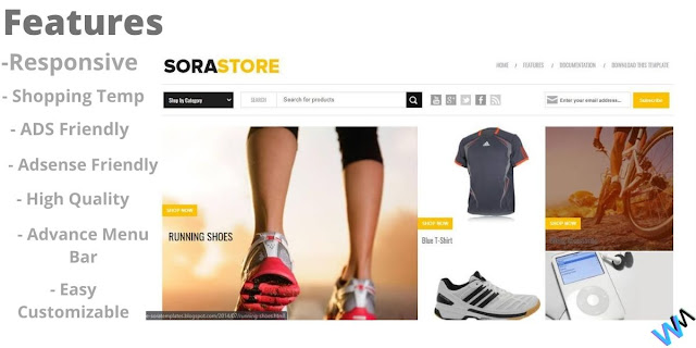 Sora Store Blogging Template For Shopping and Affiliate.