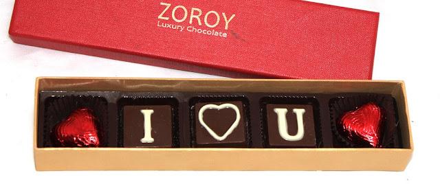 Zoroy Luxury Chocolate Valentines Day Love Gift Magical Ilu Box With 5 Milk Chocolates