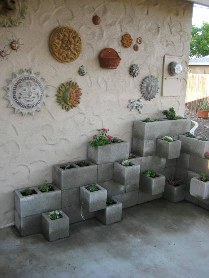 Creative DIY Cinder Blocks Ideas For Amazing Backyard ... on Backyard Cinder Block Wall Ideas id=91128
